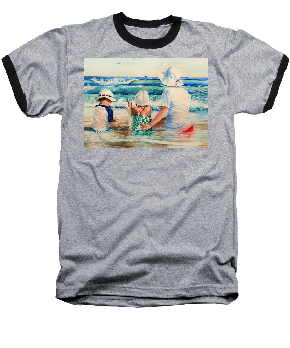 Beach Baseball T-Shirt featuring the painting Low Tide by Tom Harris