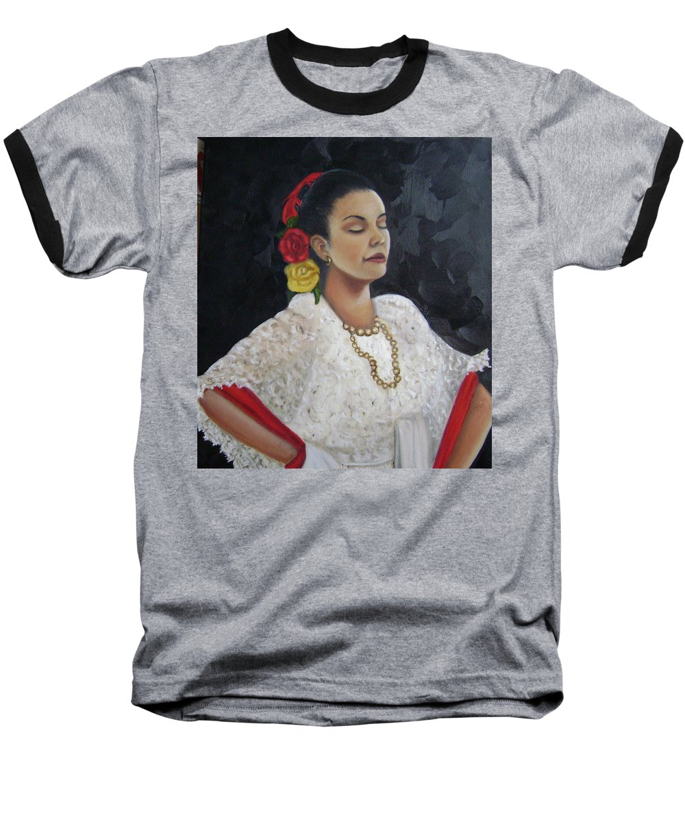 Baseball T-Shirt featuring the painting Lucinda by Toni Berry