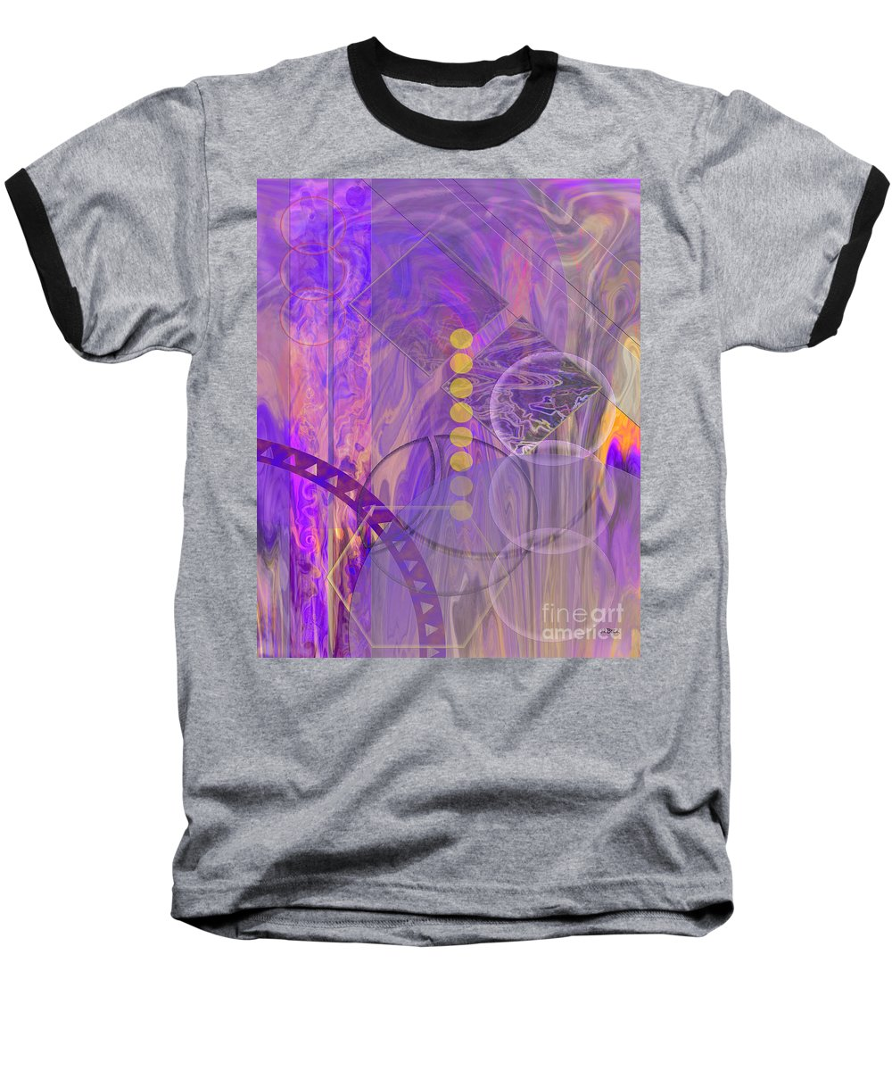 Lunar Impressions 3 Baseball T-Shirt featuring the digital art Lunar Impressions 3 by John Beck
