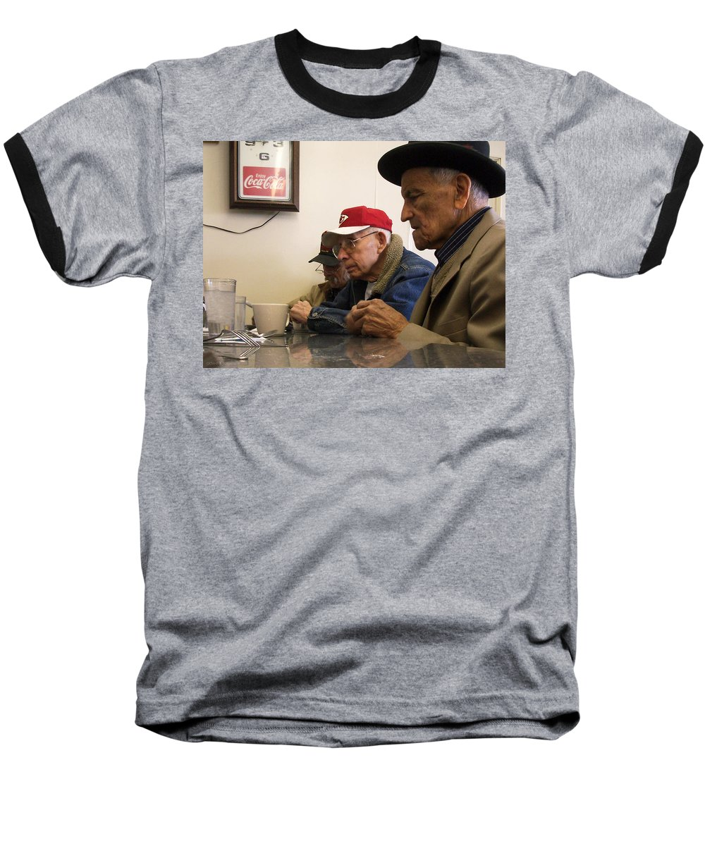 Diner Baseball T-Shirt featuring the photograph Lunch Counter Boys by Tim Nyberg