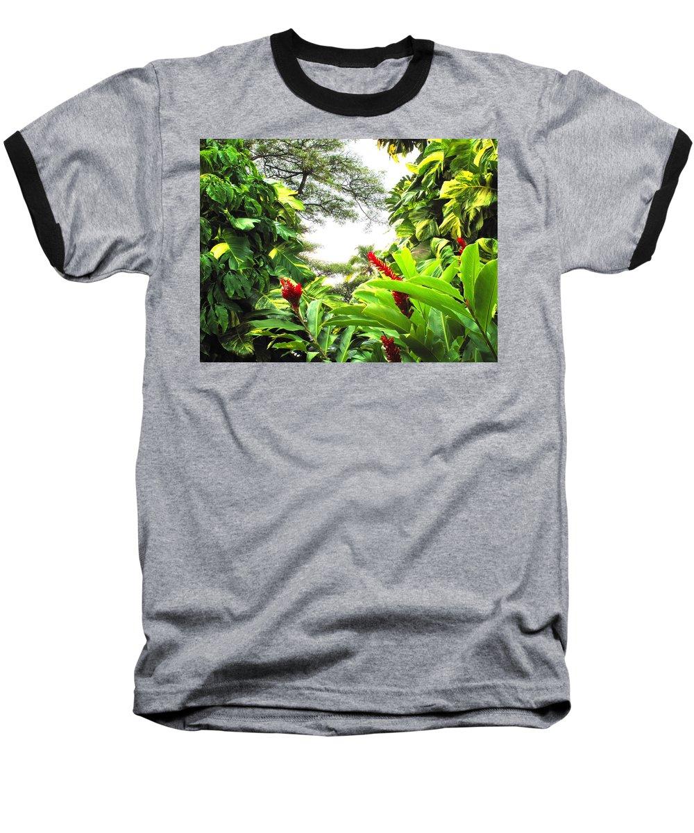St Kitts Baseball T-Shirt featuring the photograph Lush by Ian MacDonald