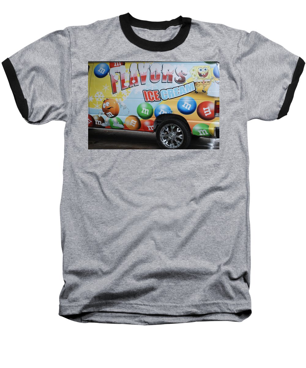 Sponge Bob Baseball T-Shirt featuring the photograph M And M Flavors For The Kids by Rob Hans
