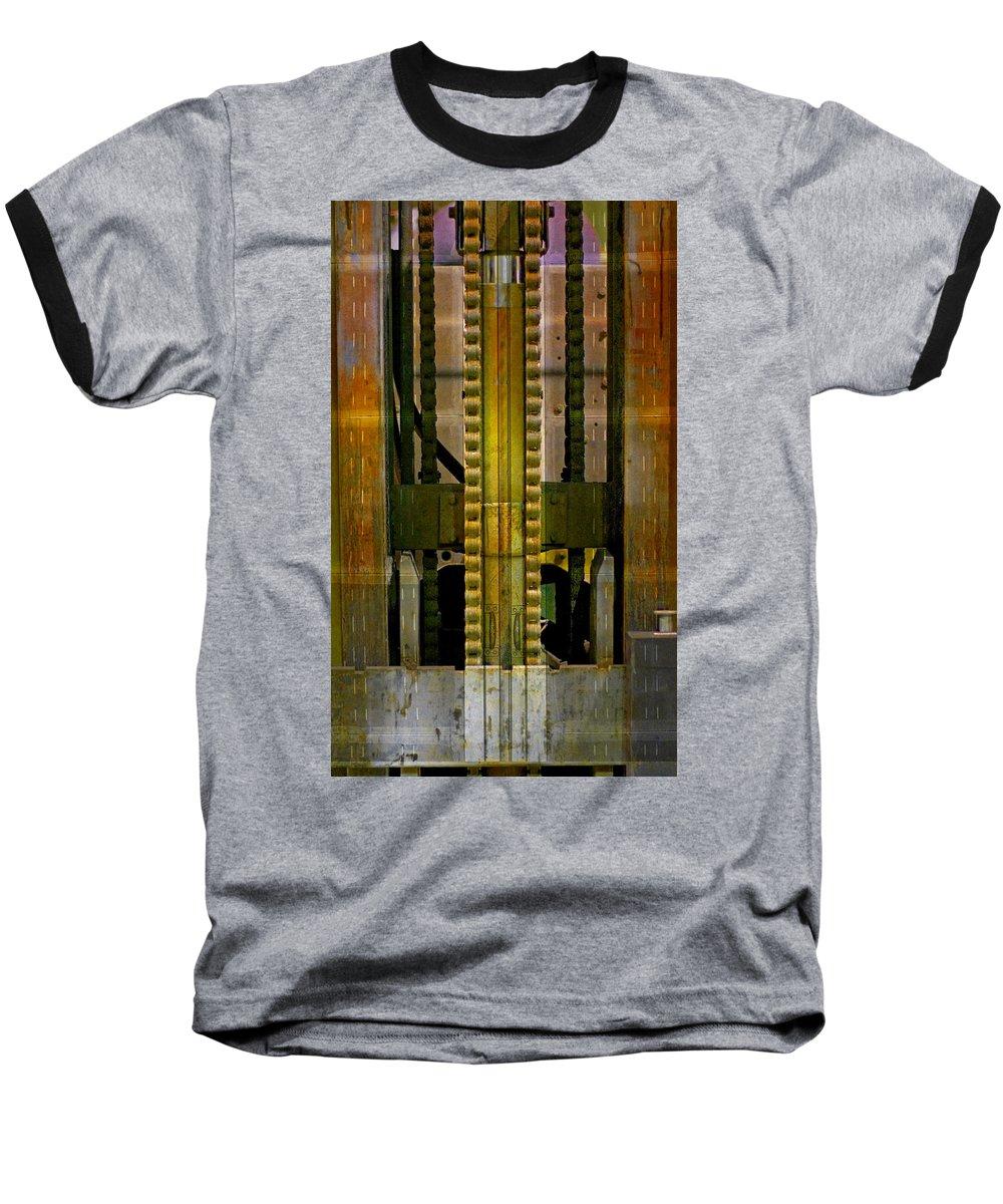 Texture Baseball T-Shirt featuring the photograph Machina by Skip Hunt