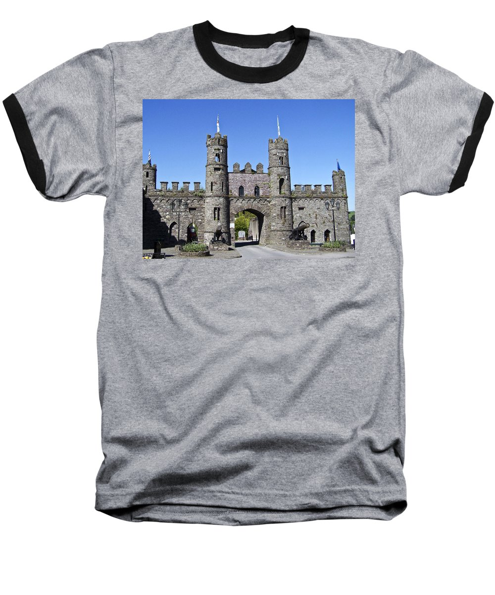 Irish Baseball T-Shirt featuring the photograph Macroom Castle Ireland by Teresa Mucha