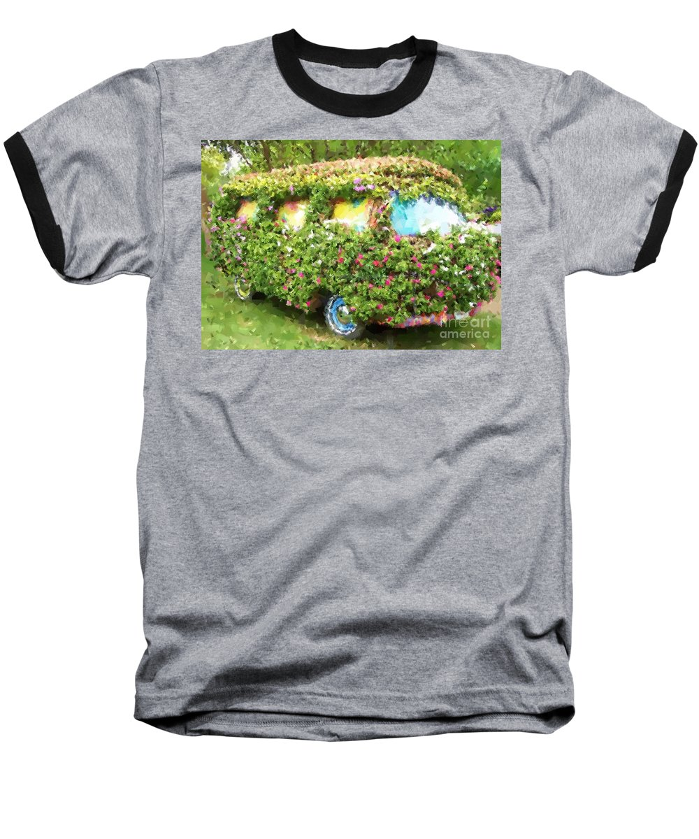 Volkswagen Baseball T-Shirt featuring the photograph Magic Bus by Debbi Granruth