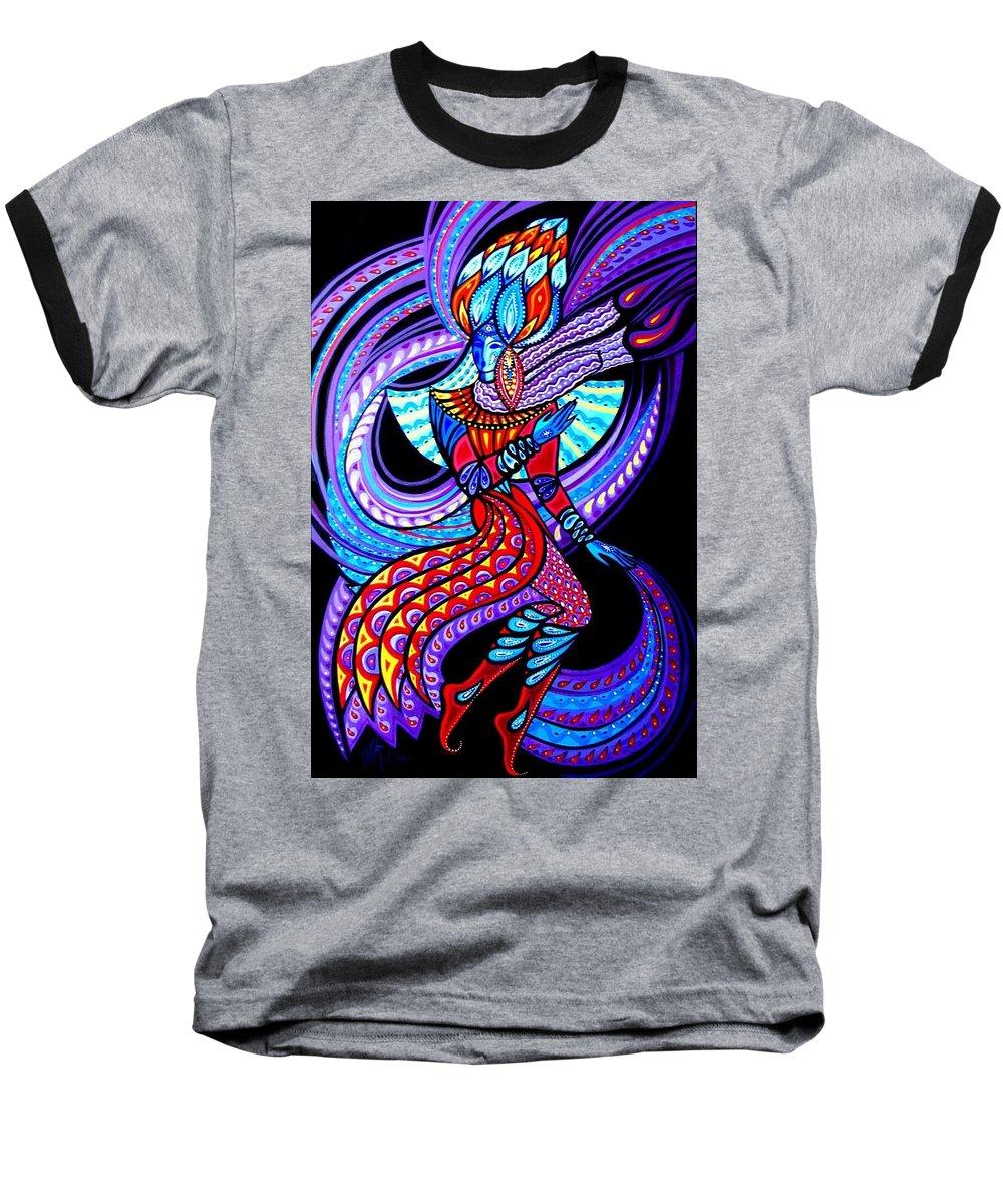Inga Vereshchagina Baseball T-Shirt featuring the painting Magic Dance In The Void by Inga Vereshchagina