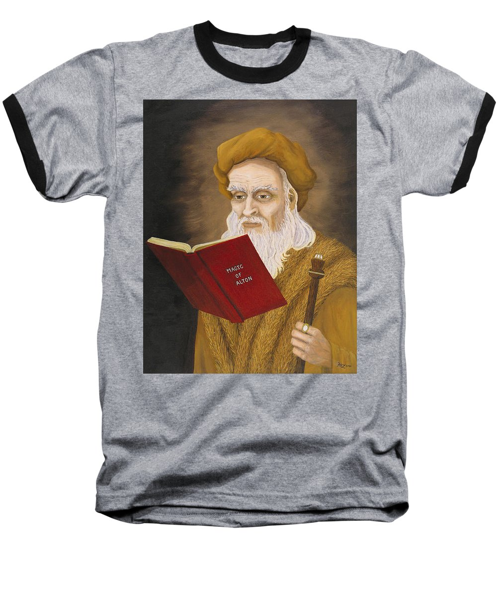 Magic Baseball T-Shirt featuring the painting Magic Of Alton by Roz Eve