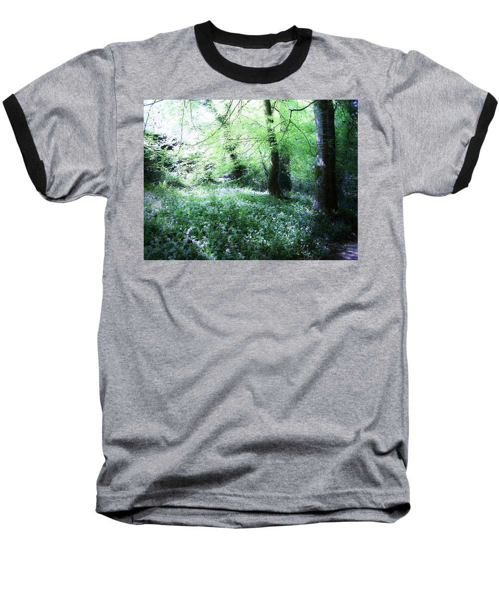 Irish Baseball T-Shirt featuring the photograph Magical Forest At Blarney Castle Ireland by Teresa Mucha