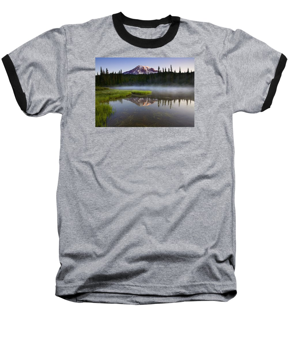 Lake Baseball T-Shirt featuring the photograph Majestic Dawn by Mike Dawson