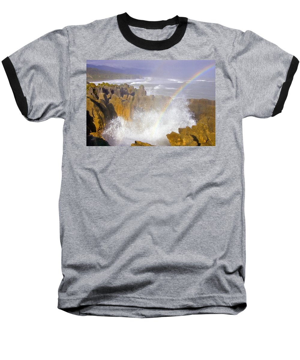 Paparoa Baseball T-Shirt featuring the photograph Making Miracles by Mike Dawson