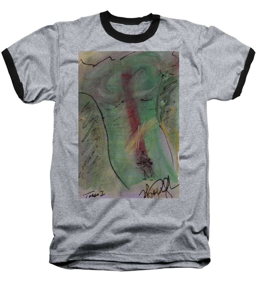 Nude Baseball T-Shirt featuring the painting Male Nude Torso 1 by Wayne Potrafka