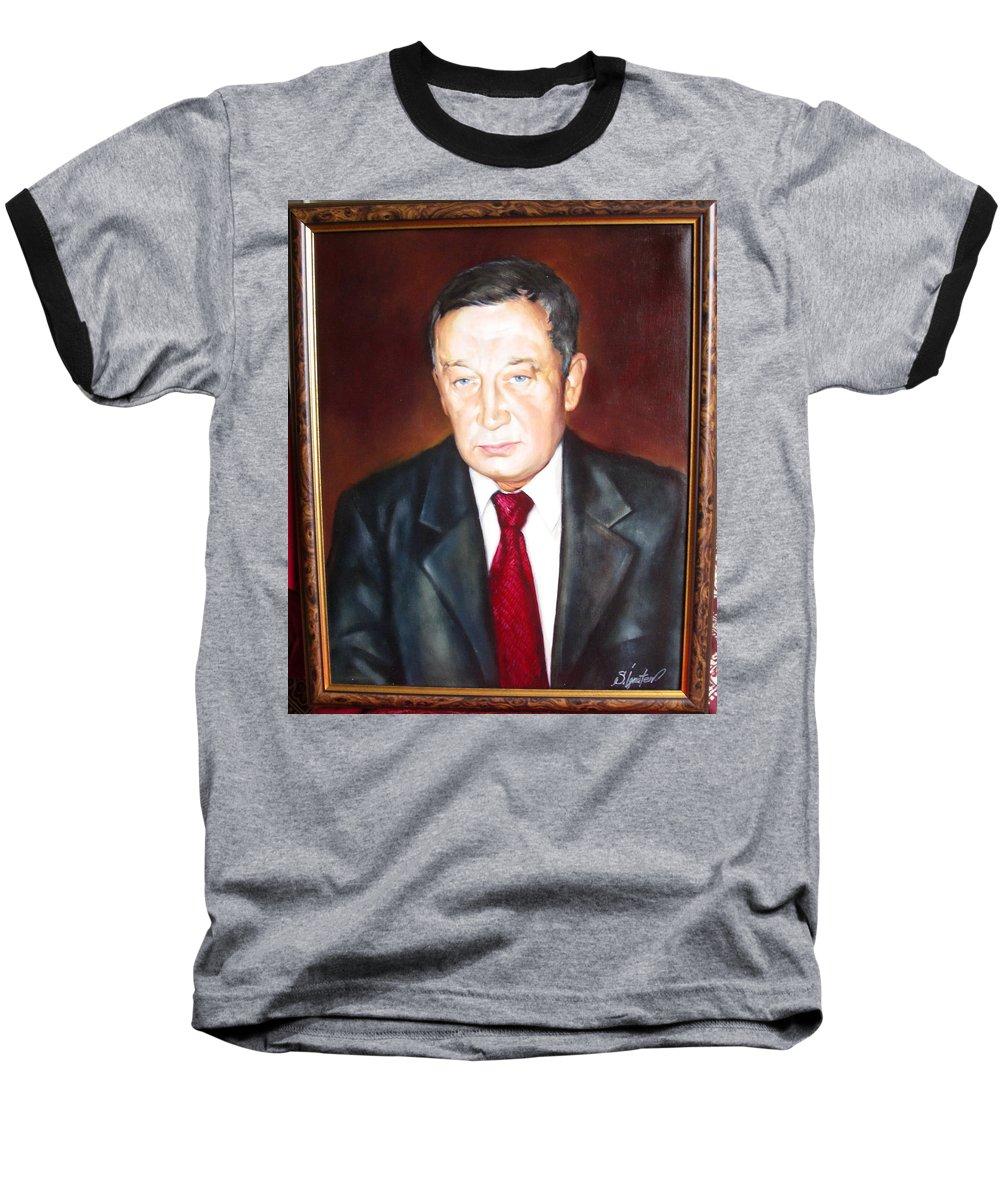 Art Baseball T-Shirt featuring the painting Man 1 by Sergey Ignatenko