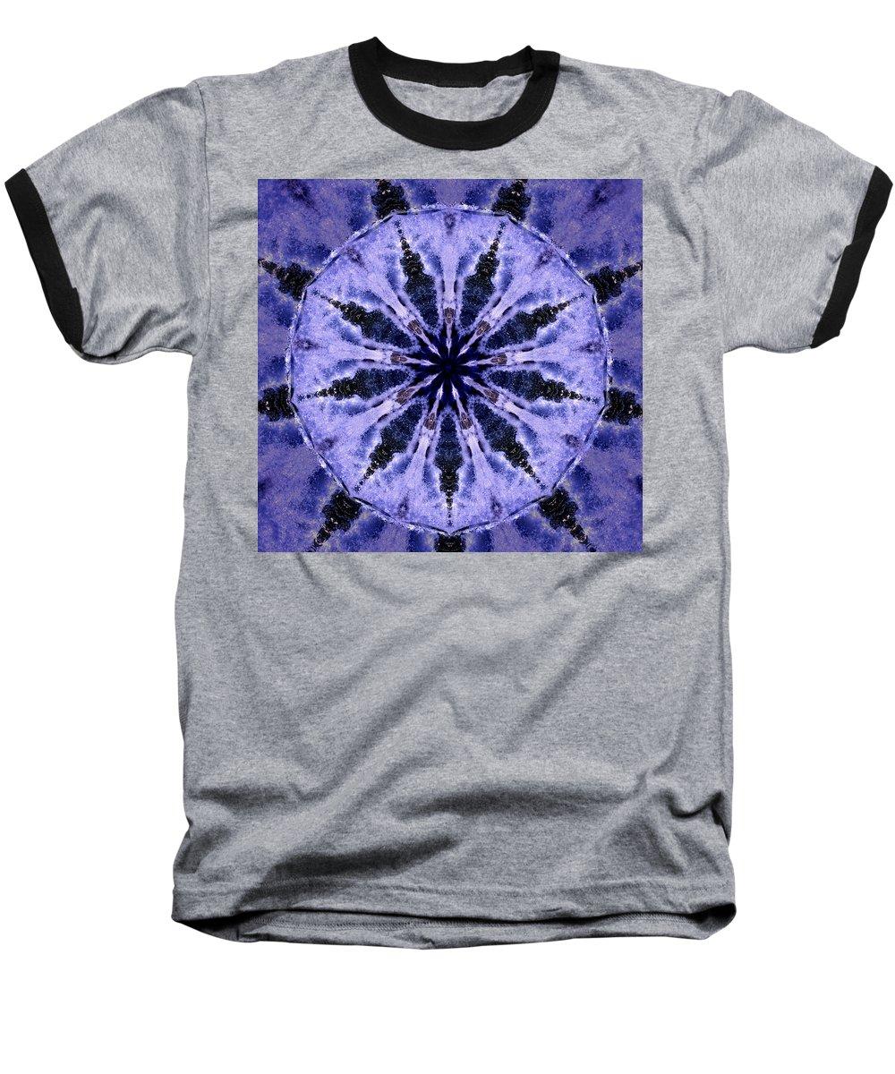 Mandala Baseball T-Shirt featuring the digital art Mandala Ocean Wave by Nancy Griswold
