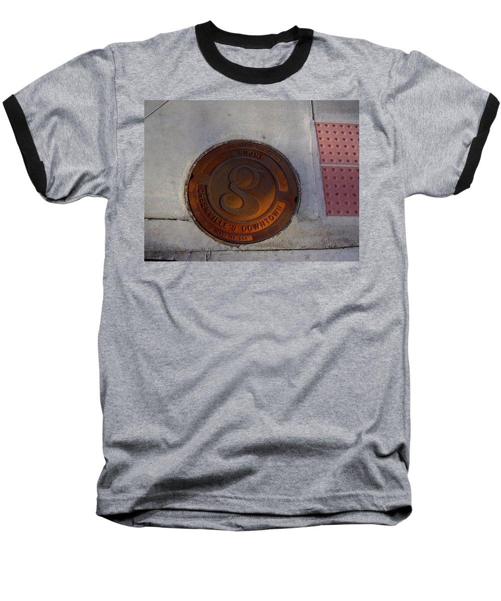 Manhole Baseball T-Shirt featuring the photograph Manhole I by Flavia Westerwelle