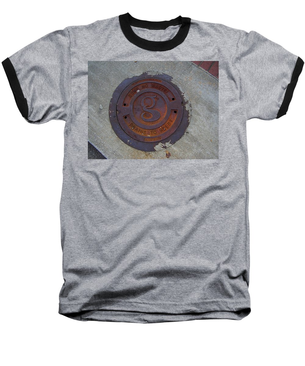Manhole Baseball T-Shirt featuring the photograph Manhole IIi by Flavia Westerwelle