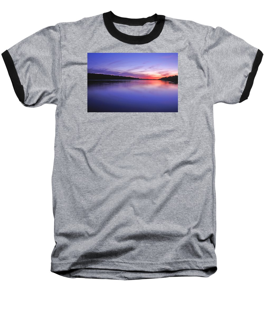 Landscape Baseball T-Shirt featuring the photograph Manidooziibi by Bill Morgenstern