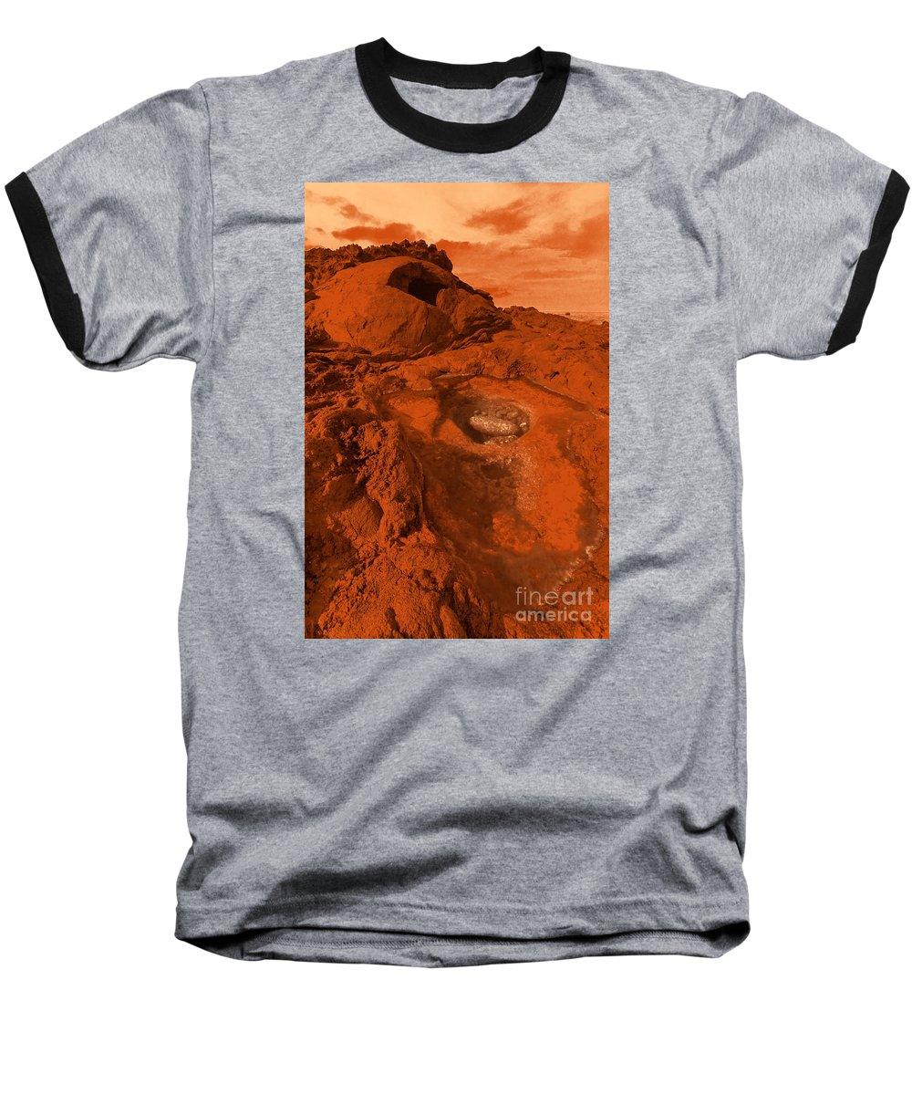 Alien Baseball T-Shirt featuring the photograph Mars Landscape by Gaspar Avila