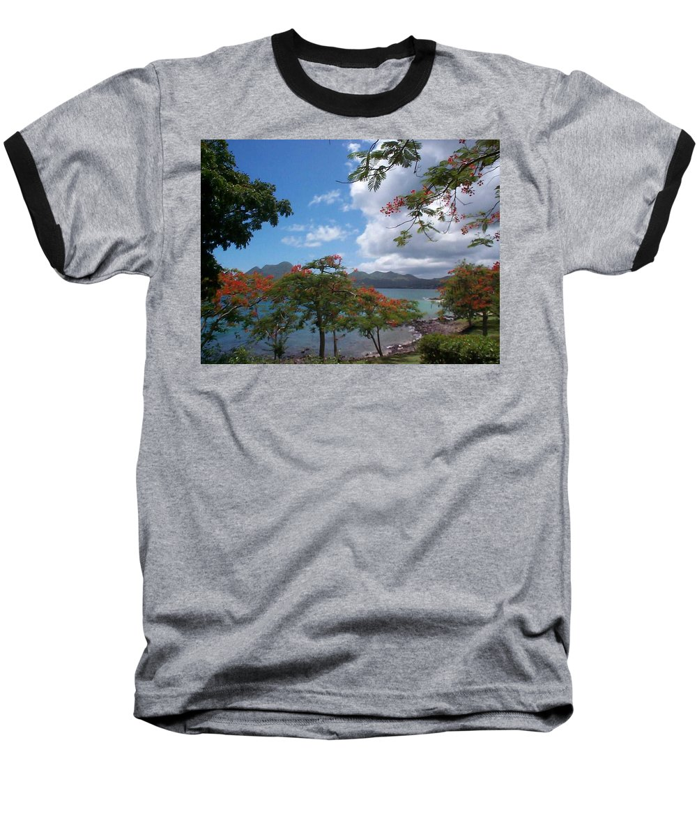Donation Baseball T-Shirt featuring the photograph Martinique by Mary-Lee Sanders