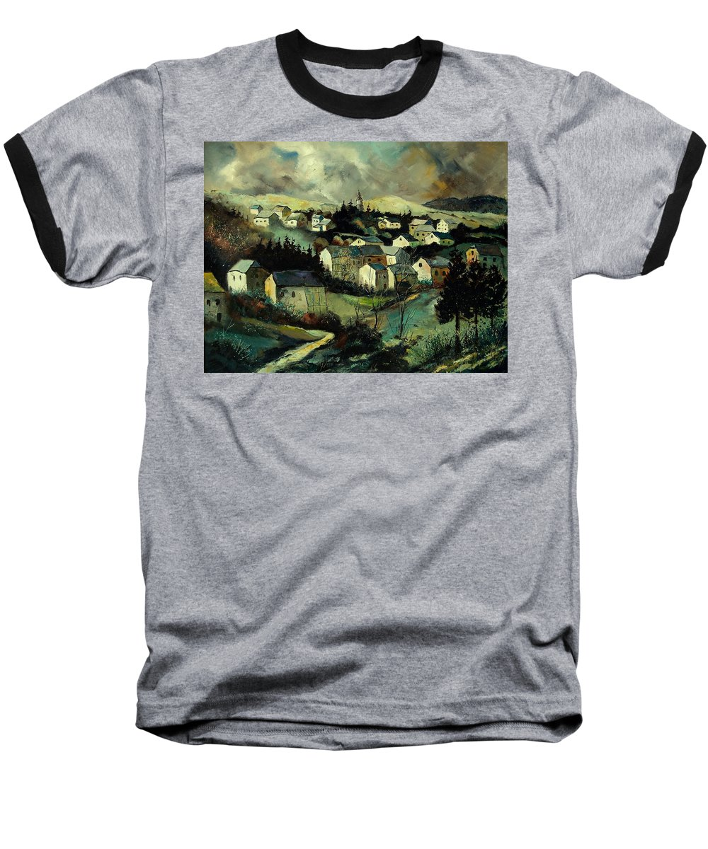 Winter Baseball T-Shirt featuring the painting Masbourg by Pol Ledent