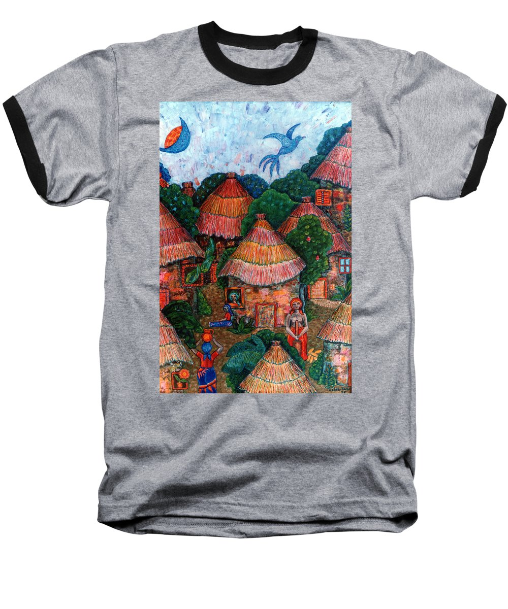 Africa Baseball T-Shirt featuring the painting Maybe That Was My Country by Madalena Lobao-Tello