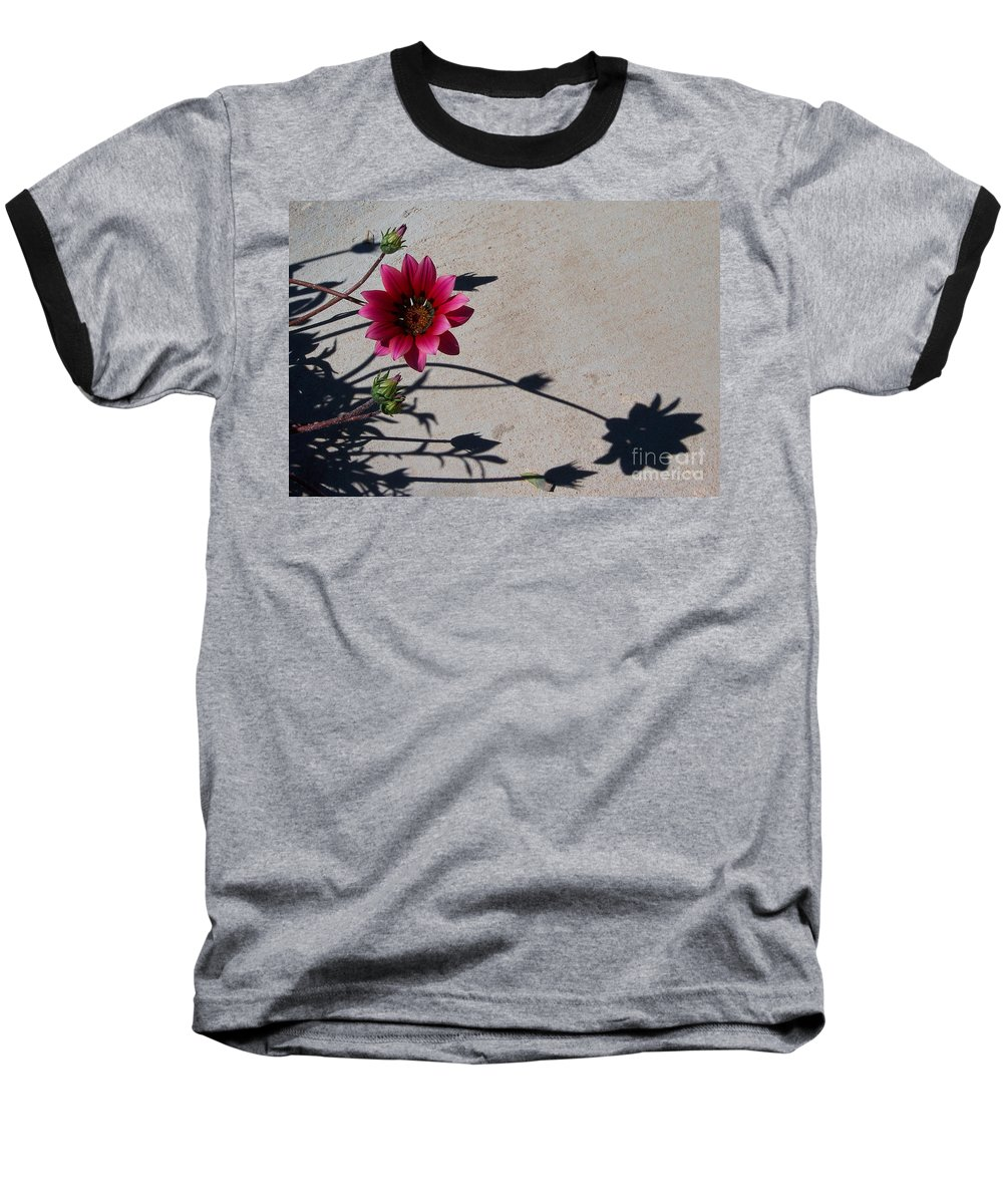 Flowers Baseball T-Shirt featuring the photograph Me And My Shadow by Kathy McClure