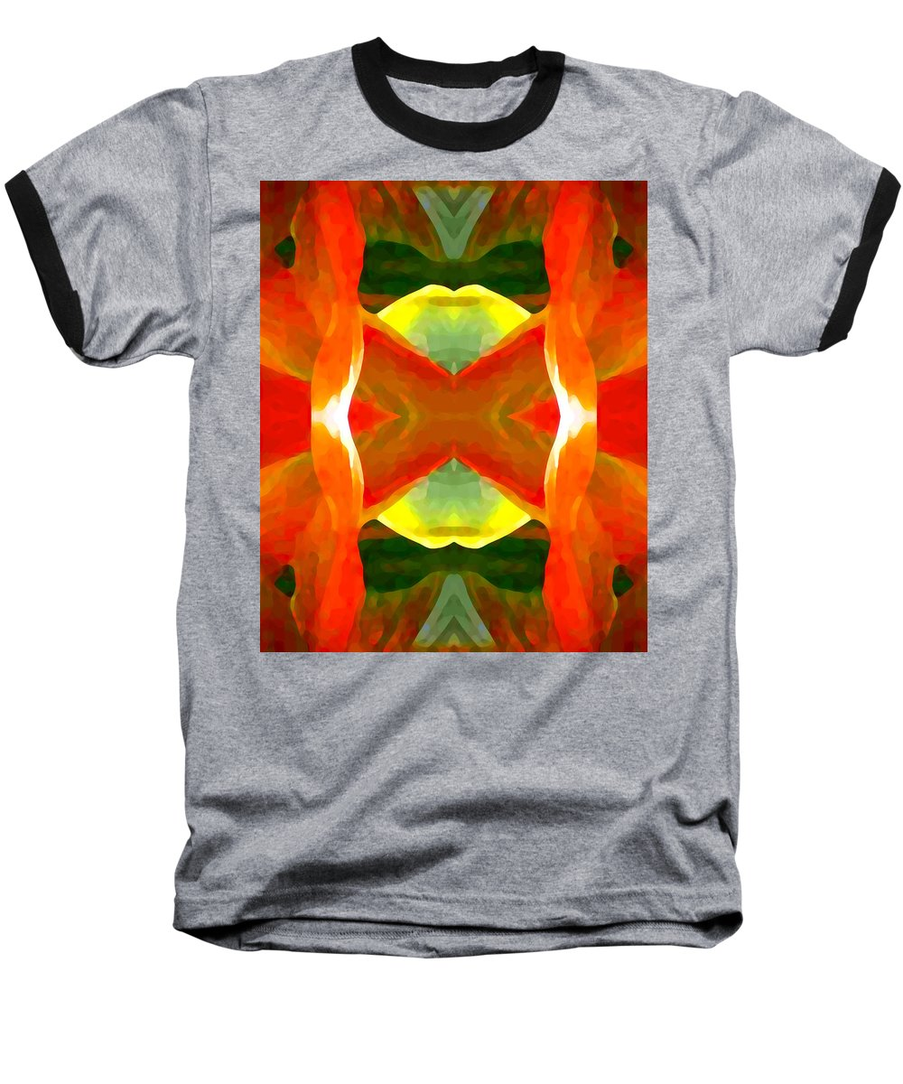 Abstract Baseball T-Shirt featuring the painting Meditation by Amy Vangsgard