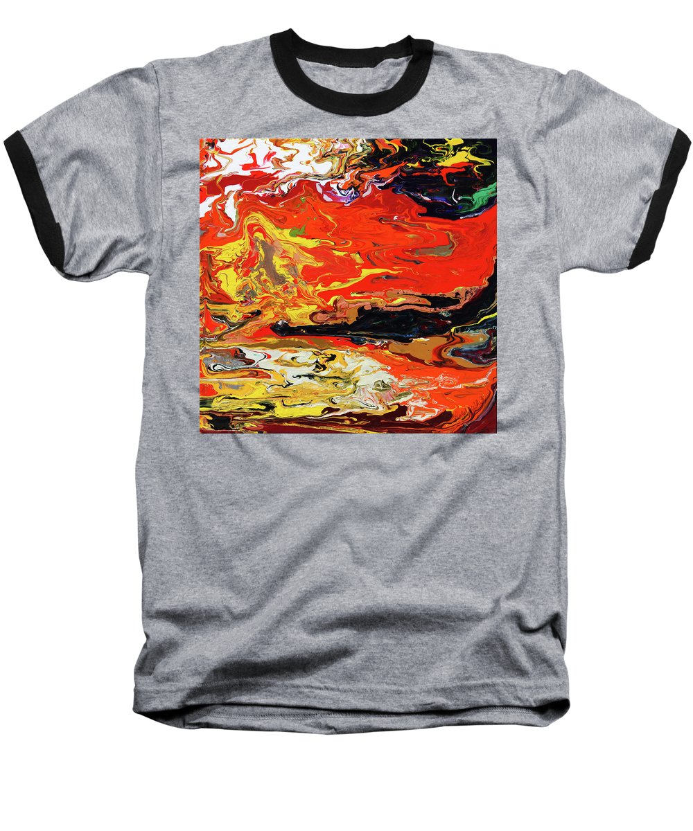 Fusionart Baseball T-Shirt featuring the painting Melt by Ralph White