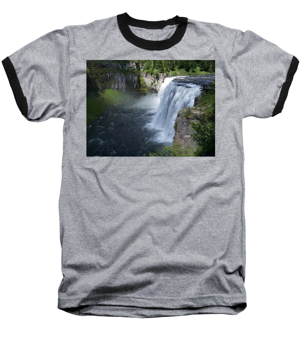 Landscape Baseball T-Shirt featuring the photograph Mesa Falls by Gale Cochran-Smith
