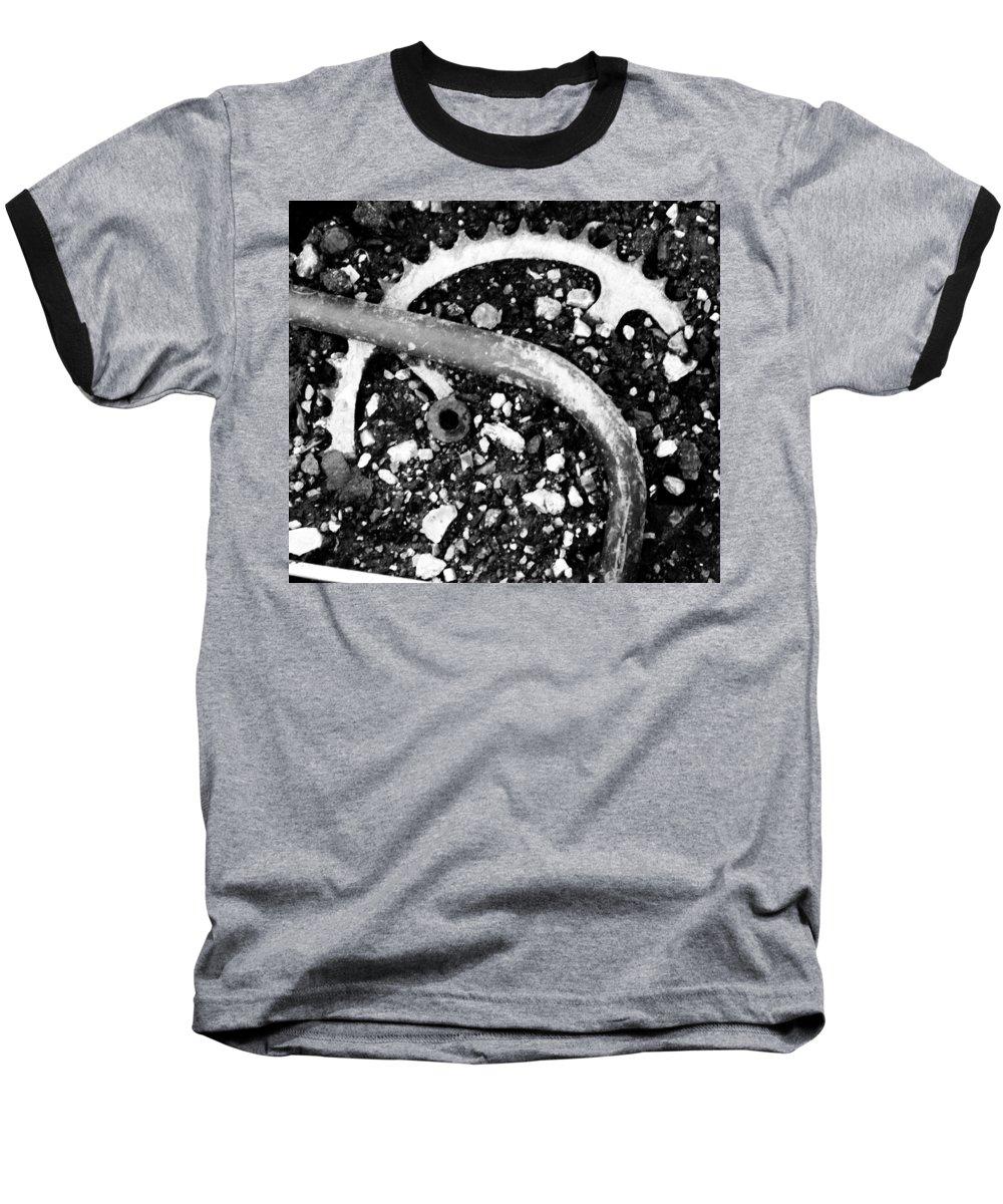 Metal Baseball T-Shirt featuring the photograph Metallic Curves by Angus Hooper Iii