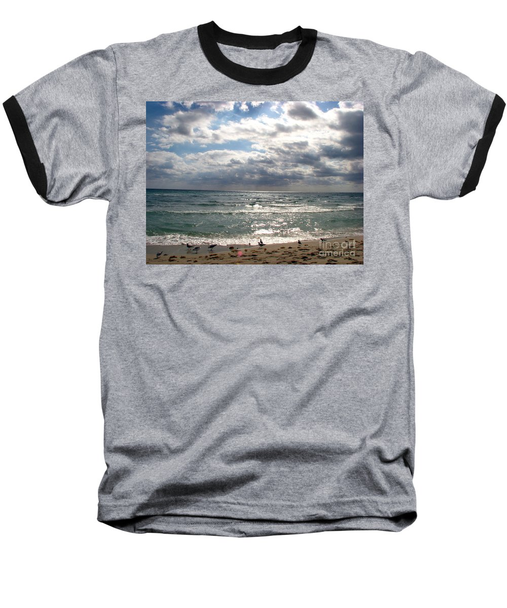 Miami Baseball T-Shirt featuring the photograph Miami Beach by Amanda Barcon