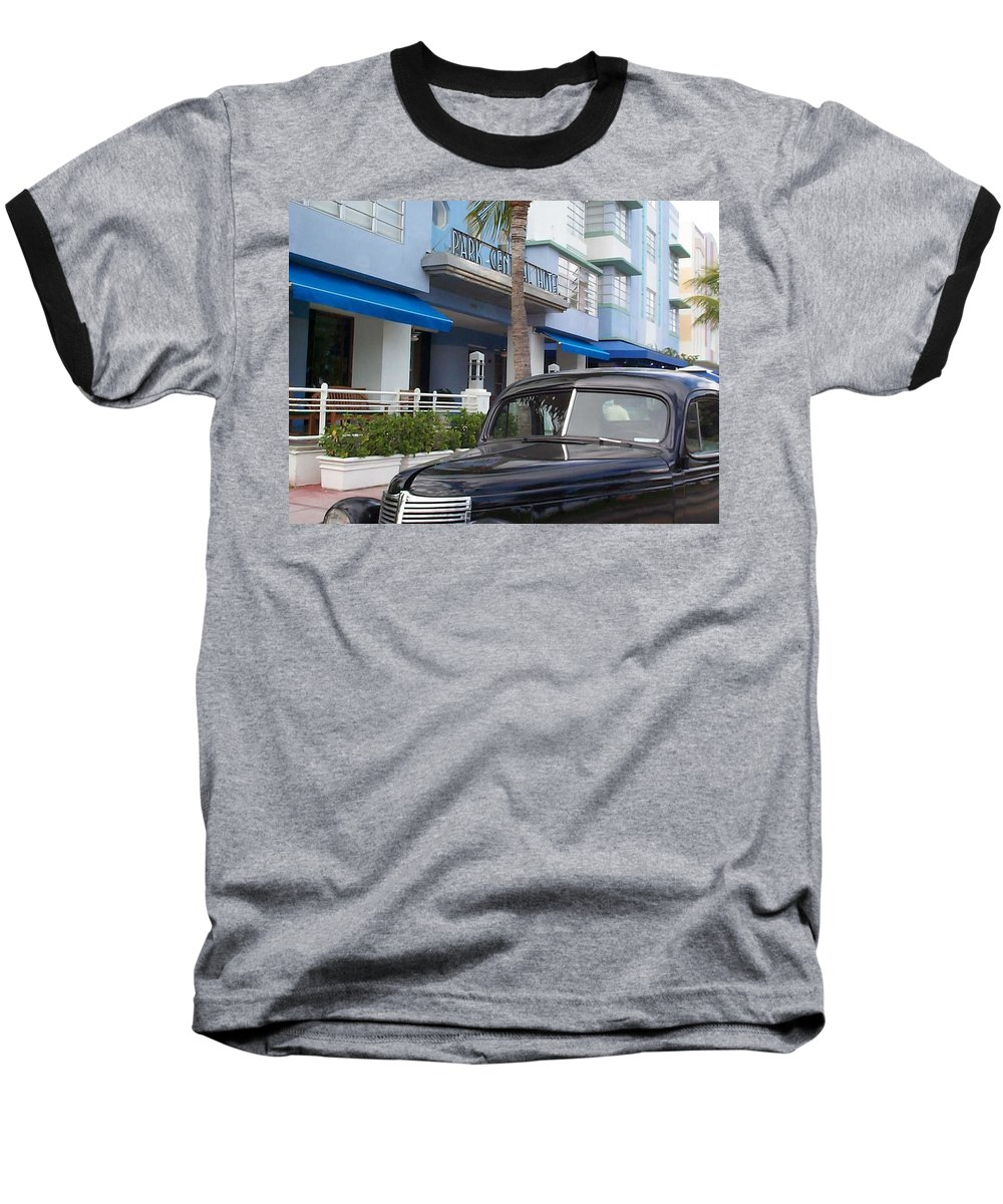 Charity Baseball T-Shirt featuring the photograph Miami Beach by Mary-Lee Sanders