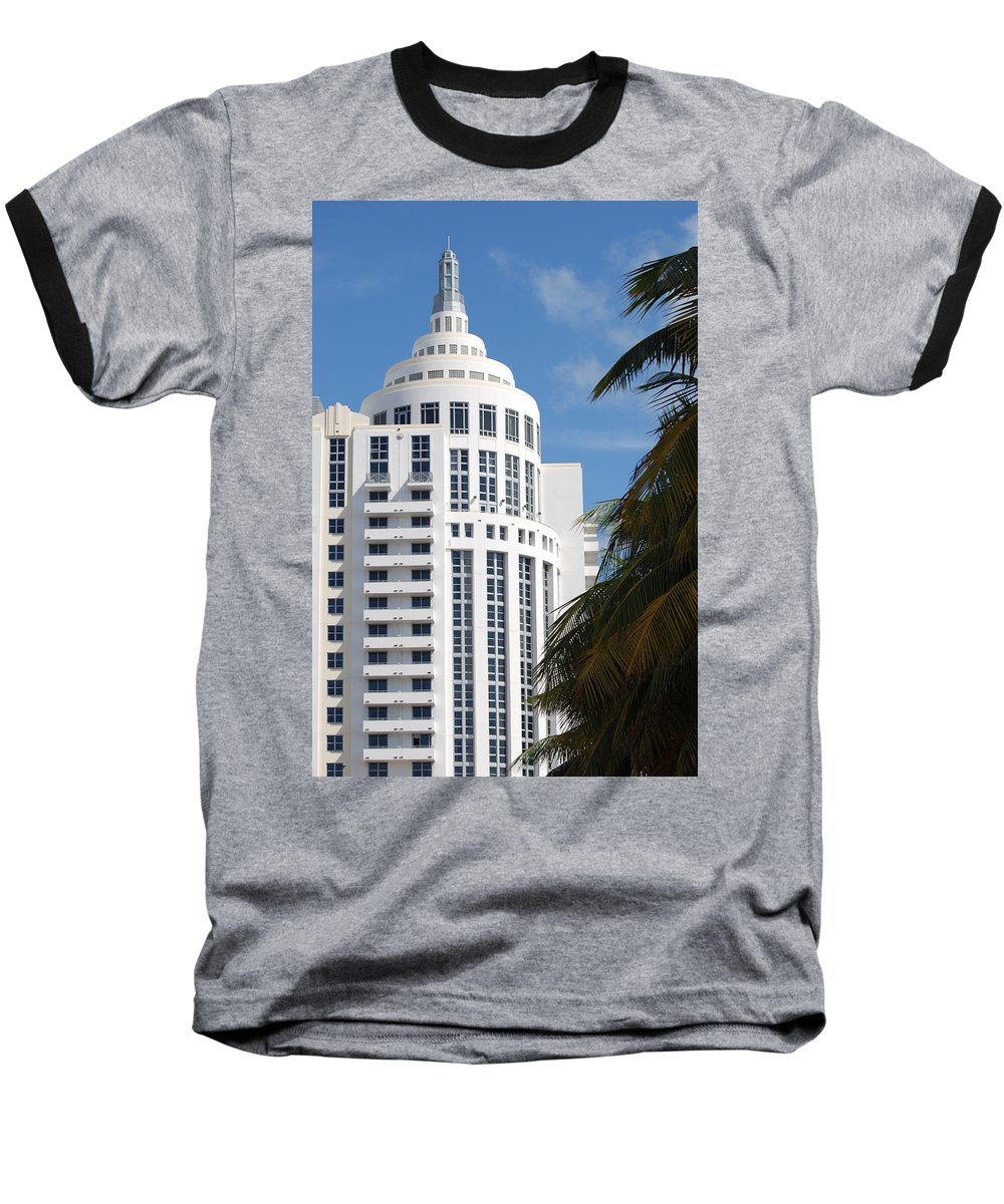 Architecture Baseball T-Shirt featuring the photograph Miami S Capitol Building by Rob Hans