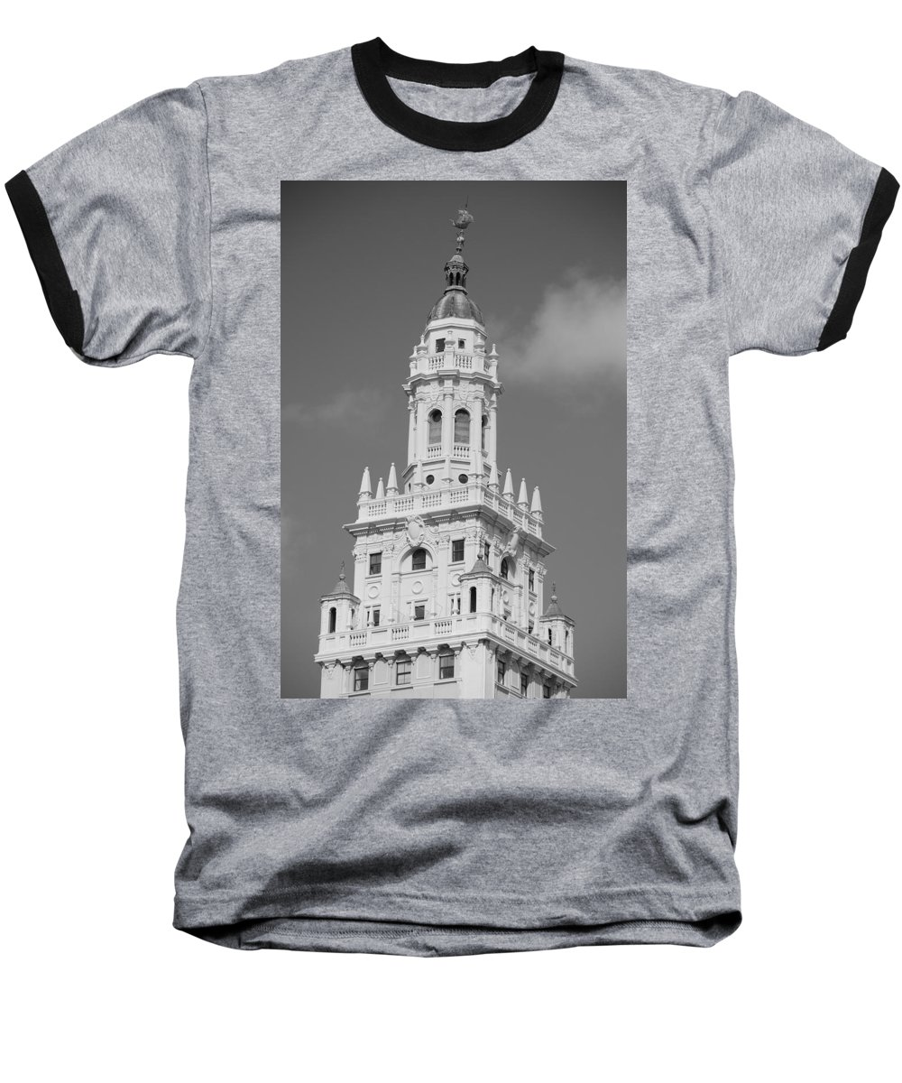 Architecture Baseball T-Shirt featuring the photograph Miami Tower by Rob Hans