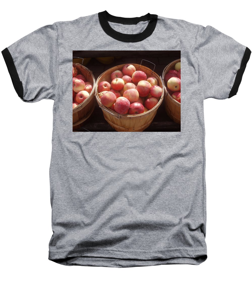 Apples Baseball T-Shirt featuring the photograph Michigan Apples by Wayne Potrafka