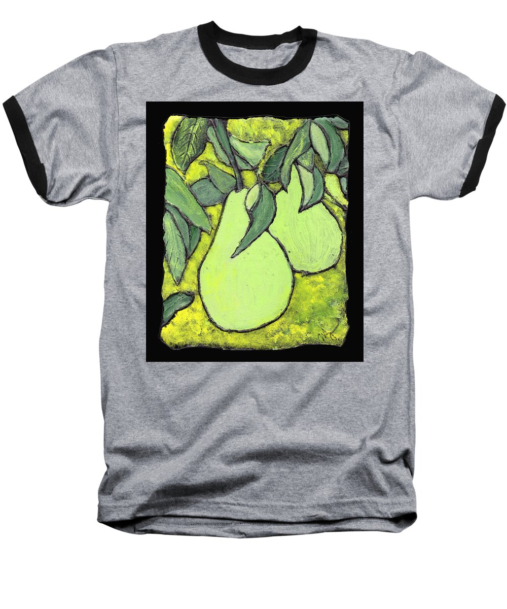 Pears Baseball T-Shirt featuring the painting Michigan Pears by Wayne Potrafka