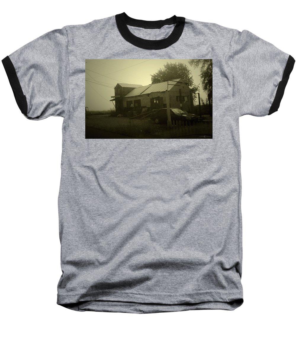 Milltown Baseball T-Shirt featuring the photograph Milltown Merchantile by Tim Nyberg