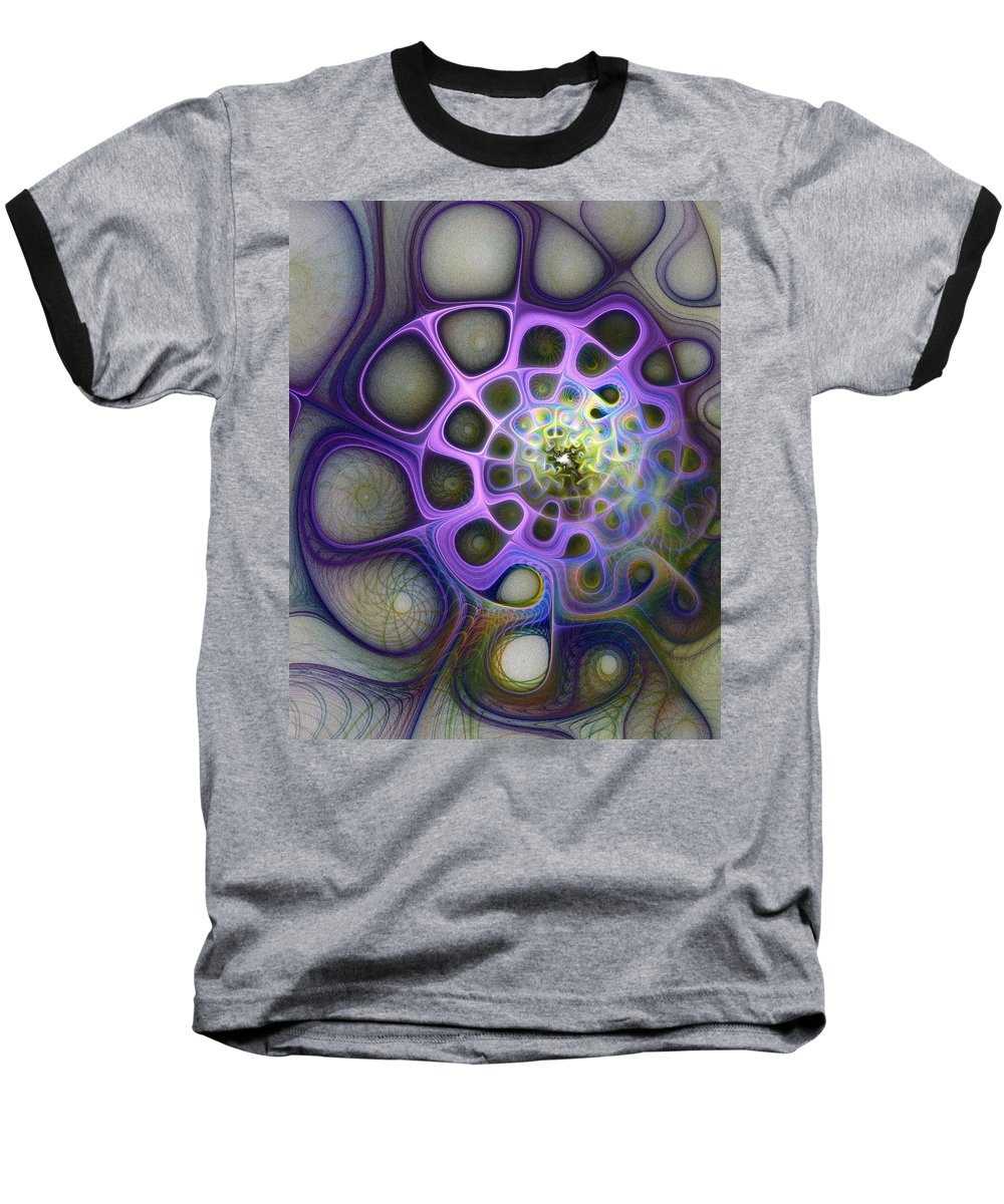Digital Art Baseball T-Shirt featuring the digital art Mindscapes by Amanda Moore