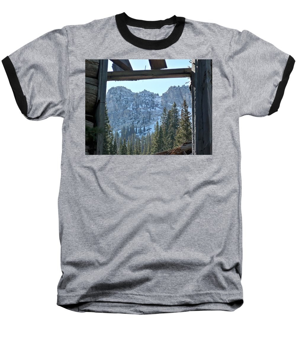 Mountain Baseball T-Shirt featuring the photograph Miners Lost View by Michael Cuozzo
