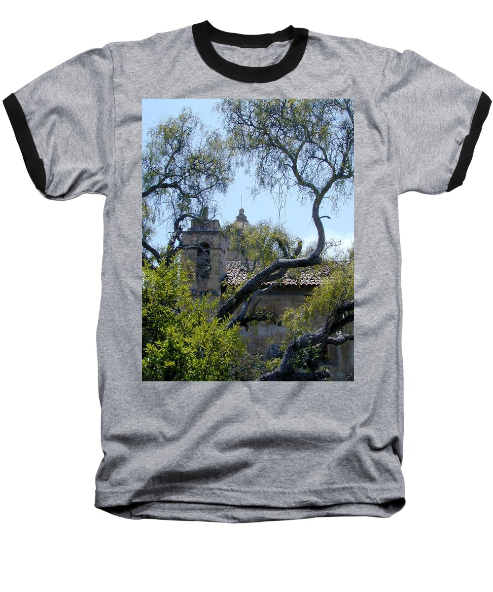 Mission Baseball T-Shirt featuring the photograph Mission At Carmell by Douglas Barnett