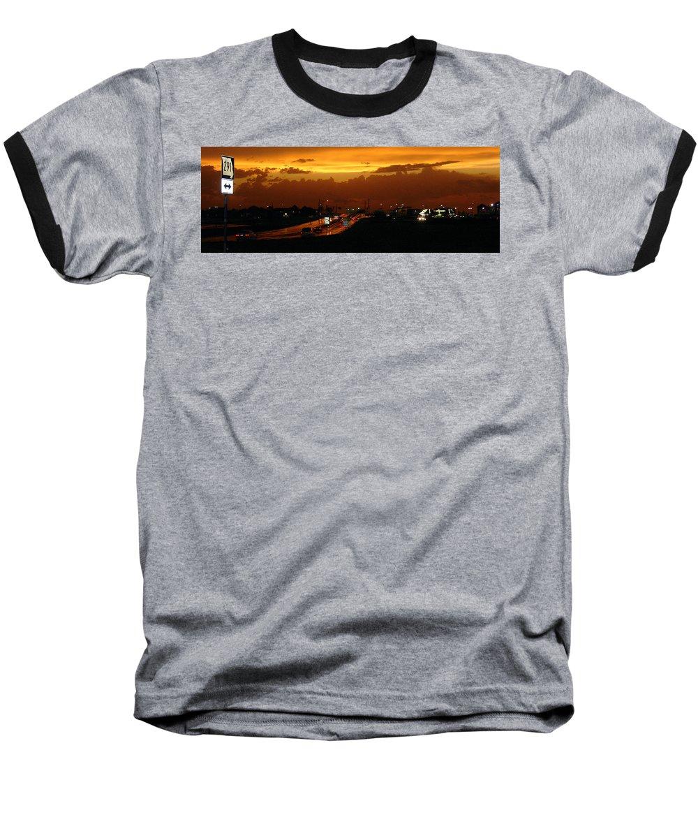 Landscape Baseball T-Shirt featuring the photograph Missouri 291 by Steve Karol