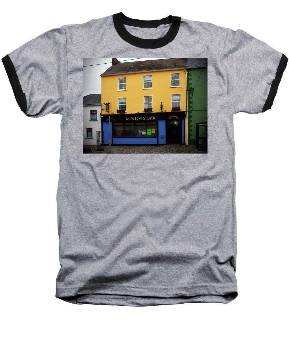 Pub Baseball T-Shirt featuring the photograph Molloy by Tim Nyberg