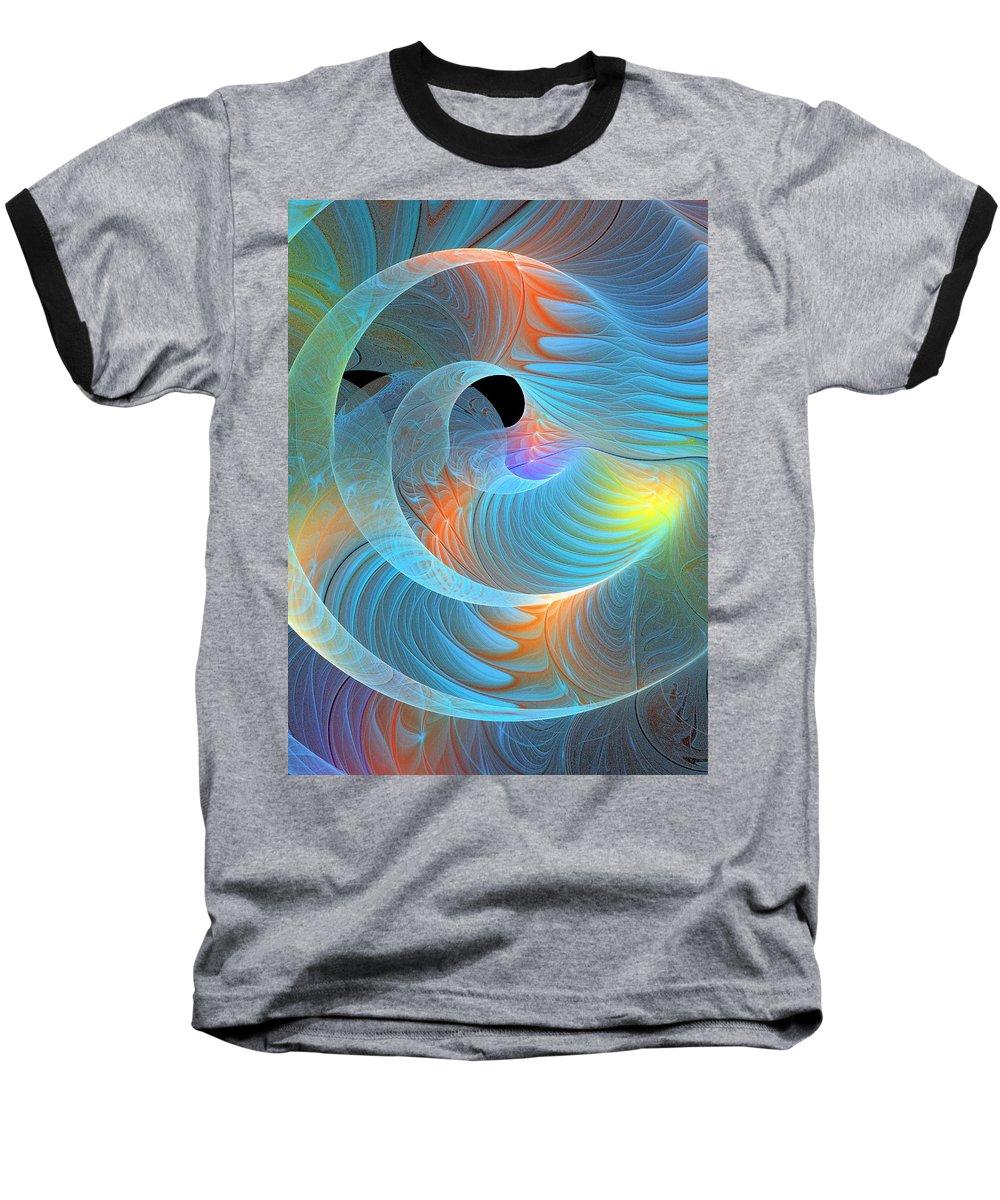 Digital Art Baseball T-Shirt featuring the digital art Moment Of Elation by Amanda Moore