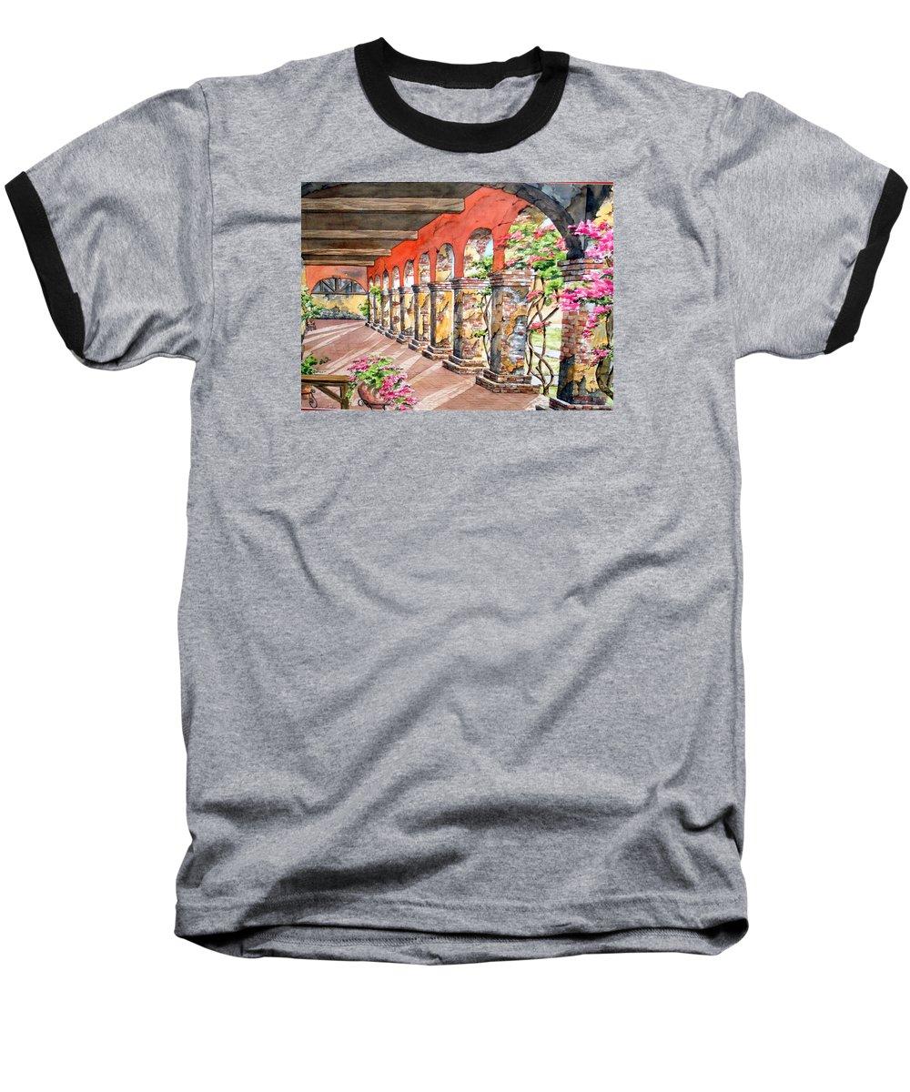 Landscape Baseball T-Shirt featuring the painting Monasterio by Tatiana Escobar
