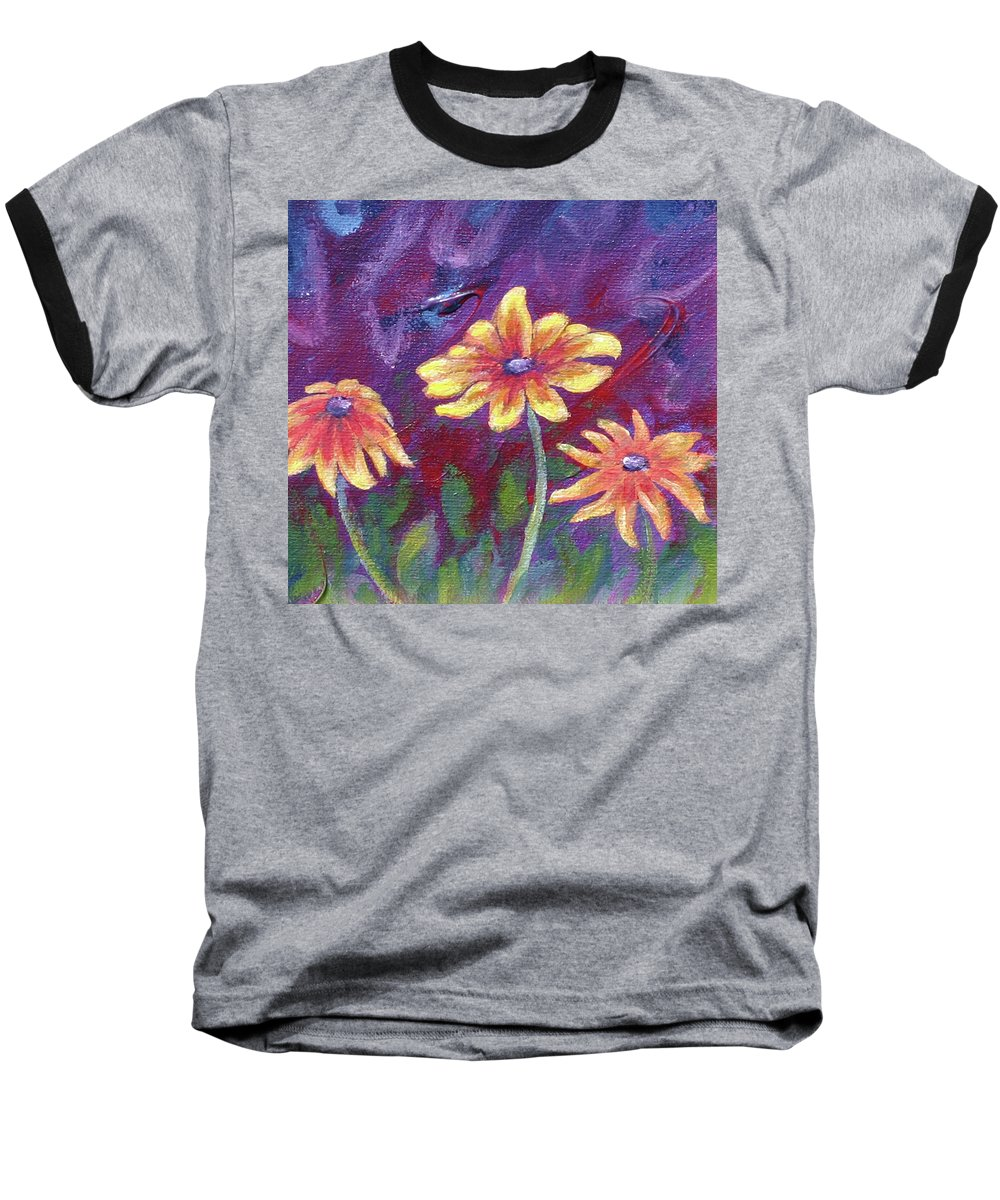 Small Acrylic Painting Baseball T-Shirt featuring the painting Monet's Small Composition by Jennifer McDuffie