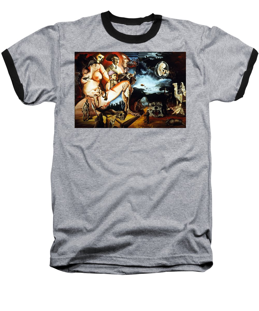 War Baseball T-Shirt featuring the painting Monument To The Unborn War Hero by Otto Rapp