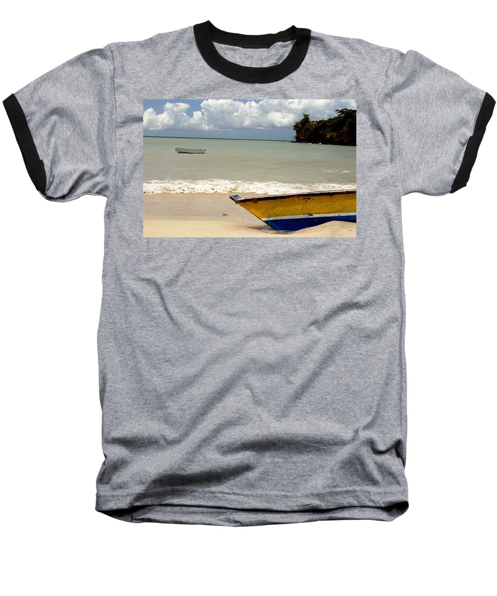 Boat Baseball T-Shirt featuring the photograph Morne Rouge Boats by Jean Macaluso
