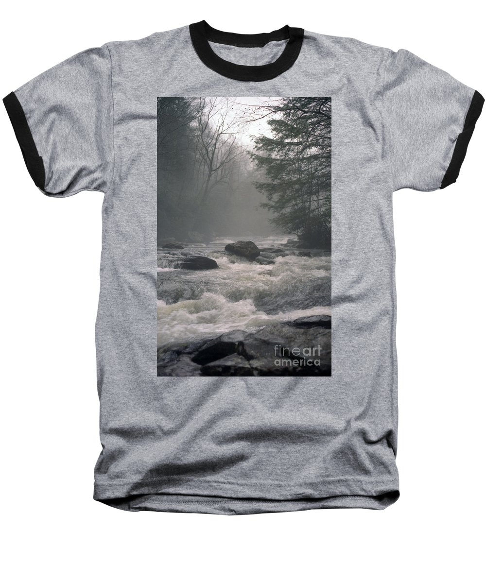 Rivers Baseball T-Shirt featuring the photograph Morning At The River by Richard Rizzo