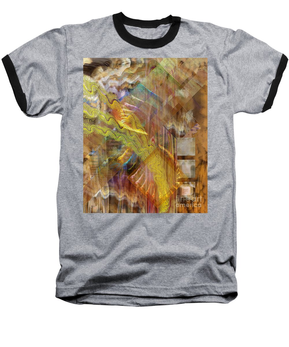 Morning Dance Baseball T-Shirt featuring the digital art Morning Dance by John Beck