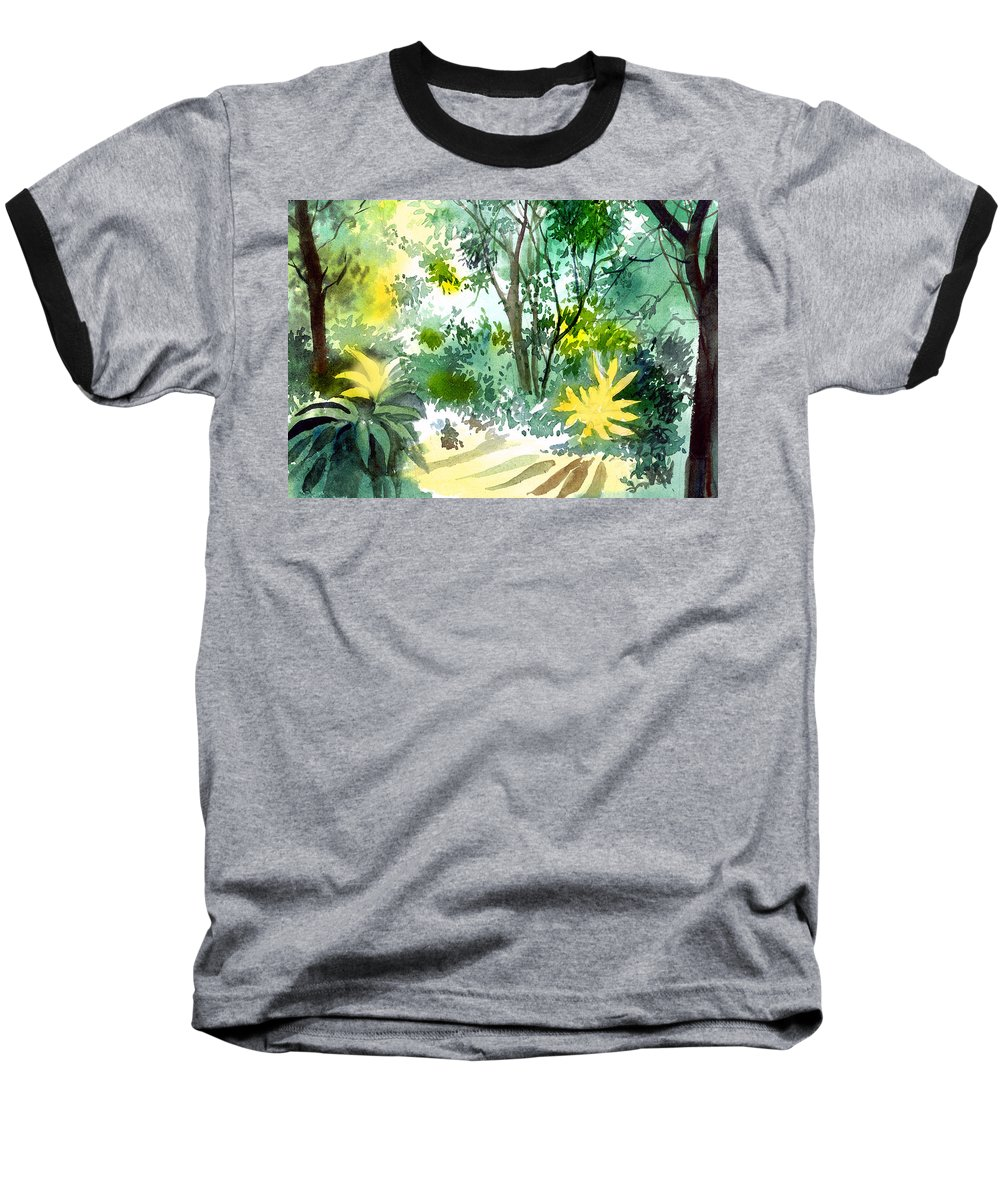 Landscape Baseball T-Shirt featuring the painting Morning Glory by Anil Nene