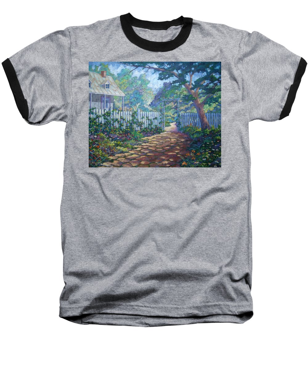 Painter Art Baseball T-Shirt featuring the painting Morning Glory by Richard T Pranke